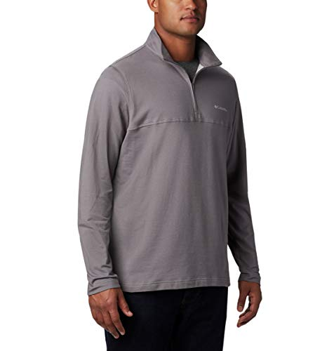 Columbia Men's Rugged Ridge 1/4 Zip, City Grey Heather, Large