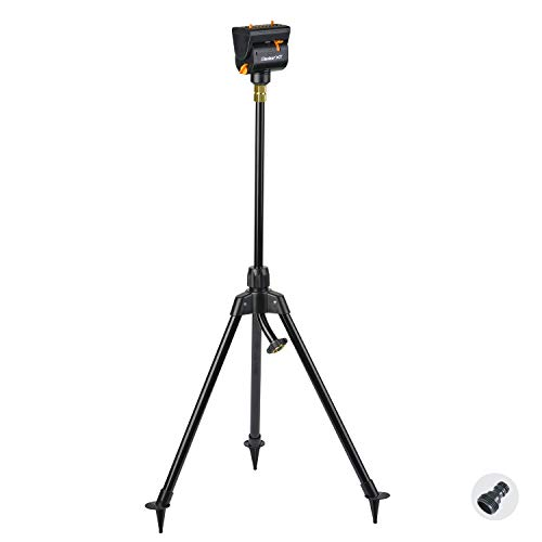Melnor 65115-AMZ MiniMax Turbo Oscillating Sprinkler on Tripod with QuickConnect Product Adapter...