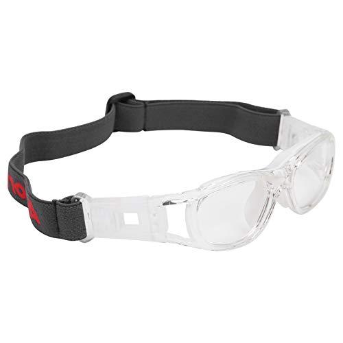 TANKE Kinder Sportbrille Teenager Verstellbar Fußball Radfahren Basketball Brille Zubehör Weiß