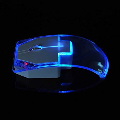 YVUYVJH Draadloze mute muis, transparante kleurrijke lichtgevende muis, Muizen voor Laptop, Ergonomisch, laag stroomverbruik, Creatief geschenk, gemakkelijk te dragen, wat perfect is voor reizen
