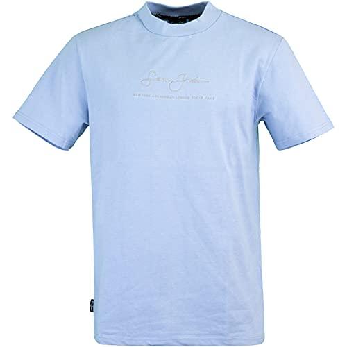 Sean John Metall Logo Classic - Maglietta azzurro L