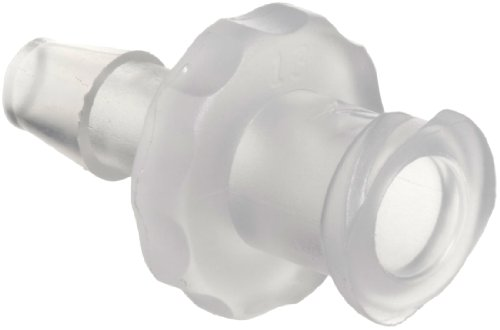 Value Plastics FTLL230-6 Natural Polypropylene Tube Fitting, Female Luer Thread Style to Barbed Coupler, 1/8