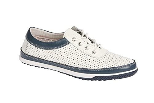 Victoria Schwarzer Zapatos de mujer cómodos, informales, con cordones, extraíbles, color Azul, talla 37 EU