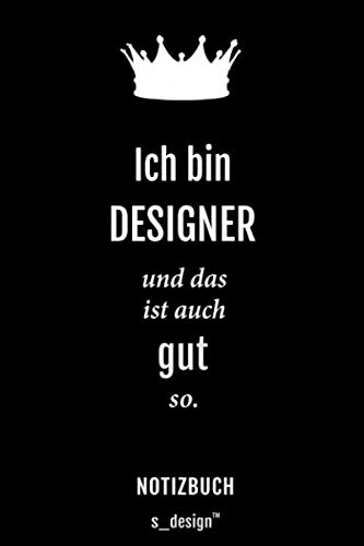 Notizbuch für Designer: Originelle Geschenk-Idee [120 Seiten gepunktet Punkte-Raster blanko Papier]