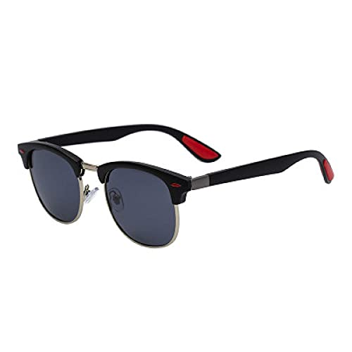 Powzz ornament 2021 Nuevas gafas de sol polarizadas Hombres TR90 Soft Fashion Cyebrow Sunglasses Hombres S Gafas-NEGRO