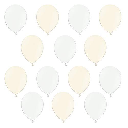 DaLoKu 20, 100 oder 200 Stück Luftballons Ø 30 cm Pastell Party Geburtstag Hochzeit, Größe: 100, Farbe: Creme/weiß