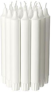 عصا نجفة من أيكا كاندل (20 قطعة) غير معطرة، لون أبيض، 19 سم