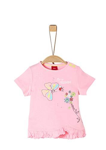 s.Oliver Junior Baby-Mädchen 405.10.004.12.130.2037960 T-Shirt, 4145 Puder pink, 92