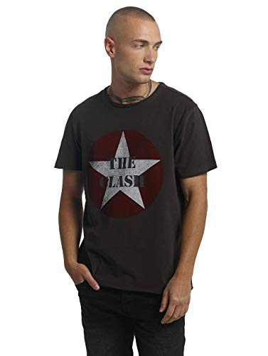 Amplified Herren The Clash -Star Logo T-Shirt, Grau (Charcoal Cc), L