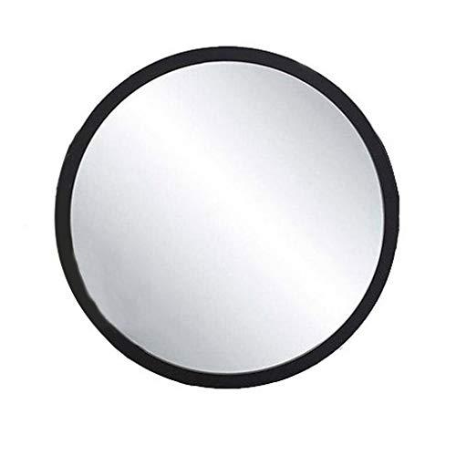 Zfggd miroir mural Suspendu/Miroir argenté/Miroir de Coiffeuse, Rond avec Trous de Montage, 3 Couleurs / 4 Tailles au Choix (Color : Black, Size : 60cm)