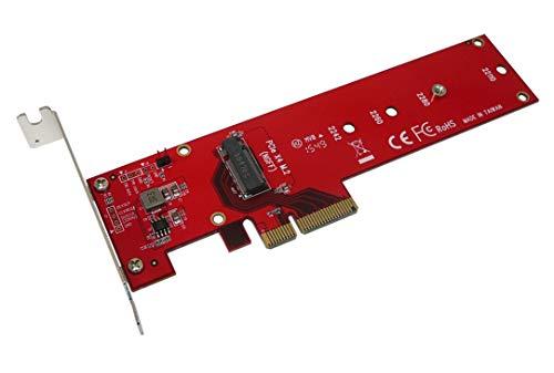 Kalea Informatique Hochgeschwindigkeits-Controllerkarte PCIe x4 Typ PCIe 3.0 für SSD M.2 Typ PCIe 3.0 x 4 NVMe oder PCIe-AHCI M2 – Produktreihe Professional/Komponenten von hoher Qualität – Treiber vorinstalliert für Windows/Mac/Linux.