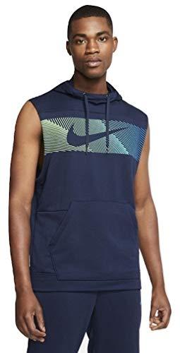 Nike Men's Sleeveless Pullover Training Hoodie (XXLarge) Blue