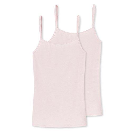 Schiesser Damen Essential Spaghettitop (2er Pack) Unterhemd, Rot (Rosé 506), 38 (Herstellergröße: 038)