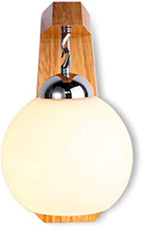 Newled Wandleuchte Vorzügliche Hauptdekoration - Persnlichkeitschlafzimmer Der Nachttischlampe Massivholz Modernen Nordischen Wohnzimmer Kreative Treppenhausbeleuchtung Wandleuchte