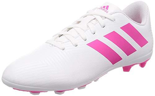adidas Jungen Nemeziz 18.4 FxG Fußballschuhe, Weiß (Footwear White/Shock Pink/Shock Pink 0), 30 EU