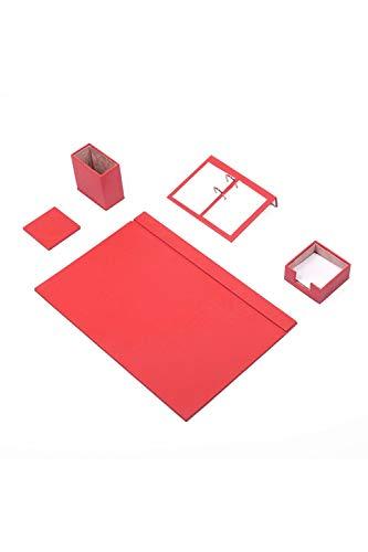 CALME - Juego de 5 protectores de escritorio de 49 cm x 34 cm, de piel sintética, en 6 colores a elegir