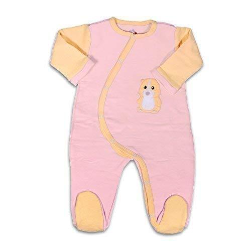 Mama Ocllo - Saco de dormir para bebé, pijama orgánico, algodón, interior rugoso, regalo para el nacimiento, color rosa y naranja, 0-3 meses