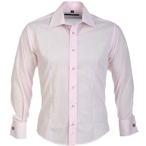 Guide London Men's Double Cuff Long Sleeve Shirt LS67159