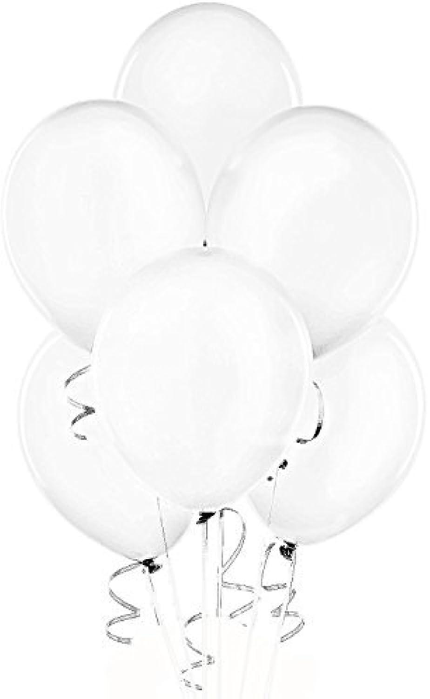 24 Inch White Latex Balloons (Premium Helium Quality) Pkg of 10 by Tuftex