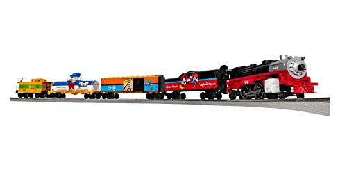 Lionel Disney Mickey & Friends Express LionChief 2-4-2 Set with Bluetooth Capability, Electric O Gauge Model Train Set with Remote