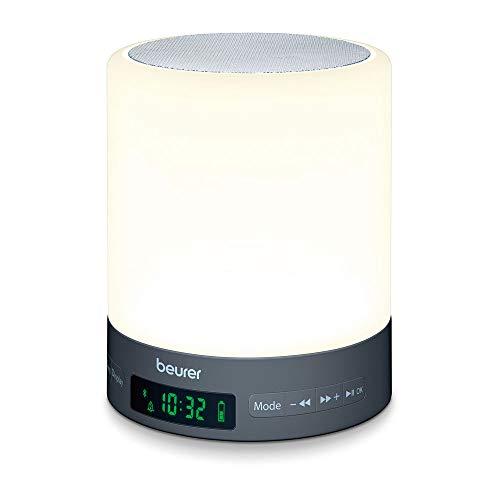 Beurer WL 50 Lichtwecker mit LED-Stimmungslicht, Simulation von Sonnenauf- und untergang, unterstützt den Schlafrhythmus