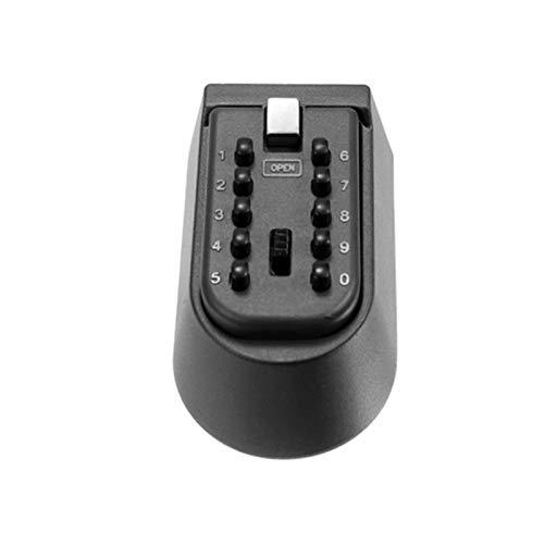 QiHaoHeji Caja de seguridad para llave de pared, para montar en la pared, con código (color negro, tamaño: talla única)