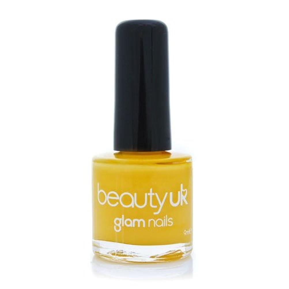 スナップ公男らしさBeauty Uk Glam Nails No36 Yellow Peril 9ml [並行輸入品]