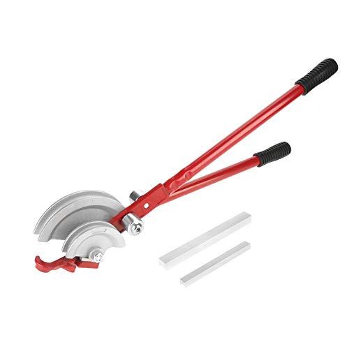 2 in 1 Rohrbieger, 180 ° Handheld Rohrbieger Rohrbiegezange Biegezange Rohr Biegewerkzeug perfekt für Kupferrohre und Aluminiumrohre, 15mm und 22mm (Rot)