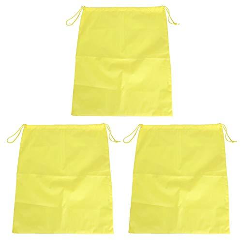 SALALIS Bolso de los Zapatos, Amarillo Ligero Delicado Respirable del Bolso del Viaje del Lazo Respetuoso del Medio Ambiente para Guardar la Ropa