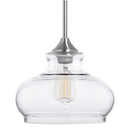 Ariella Ovale LED Kitchen Pendant Light Fixture - Brushed...