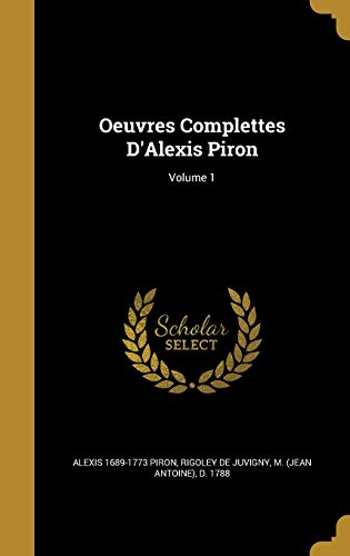 OEUVRES COMPLETTES DALEXIS PIR