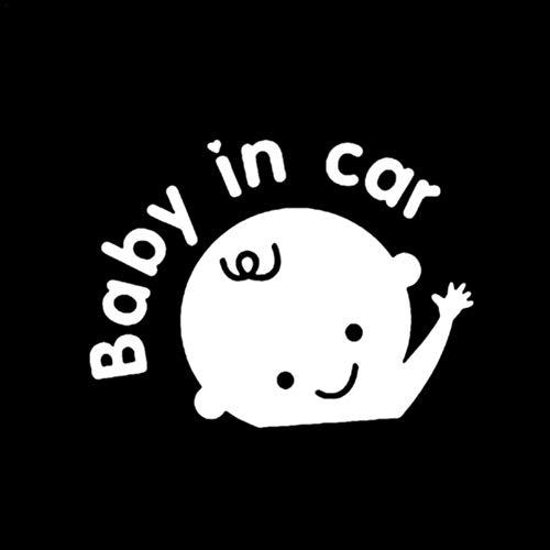 favourall Autocollant Voiture Car Sticker Bebe A Bord, Baby in Car Réfléchissants Vinyle Adhésif Warning Car Sticker pour Auto Extérieur et Intérieur by Blanc