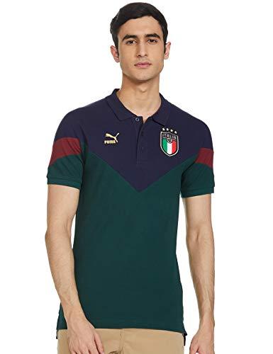 Puma FICG Italia Iconic MCS P, Maglietta Polo Uomo, Verde (Ponderosa Pine-Peacoat), XL