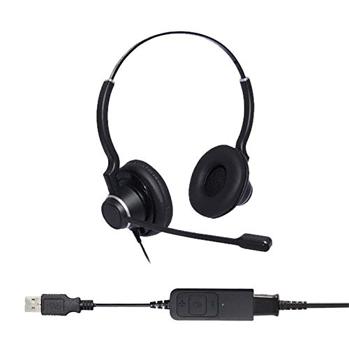 Project Telecom Ultra Noise Cancelling Binaural USB Headset | Compatible With Acer Nitro