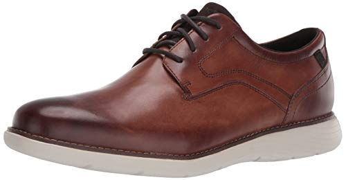 Rockport Men's Garett Plain Toe Oxford, Cognac, 12 M US