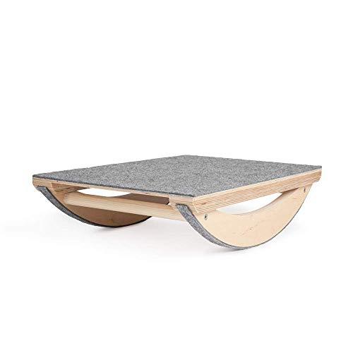 Balance Board Kinder minimalistisches Design | Wackelbrett Balance Board für Kinder Wippe Holz | Nachhaltig Balance Board Sport aus natürlichem Holz | 100% ECO | Made in EU (BAL_Board_PRO_FIL)