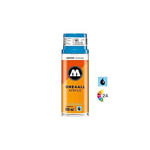 Molotow One4All Acrylic Spray Paint Can 400ml: 180 - Signal Black
