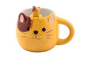 FMC Cute Animal Novelty Ceramic Coffee Tea Mug with Matching Spoon 16 fl oz Mug