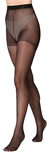 Merry Style Damen Strumpfhose 15 DEN MSFI019 (Schwarz, 4-L)