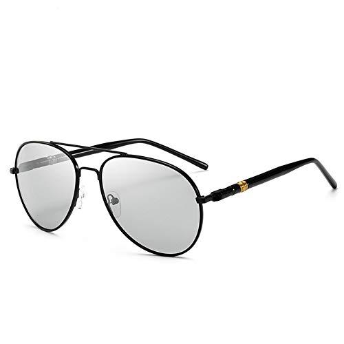 fansheng - Occhiali da sole fotocromatici da pilota, anti-UV, occhiali da sole da guida