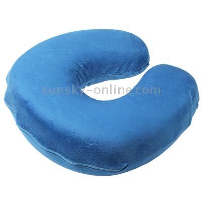 HNZZ Hblilitar Almohada de protección, Almohada en Forma de U Soft Cuello de Almohada Oficina restante (Color : Blue)