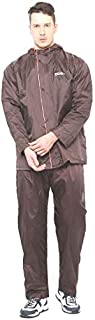 ZEEL Men's PVC Waterproof Rain Suit (Brown; XXL)