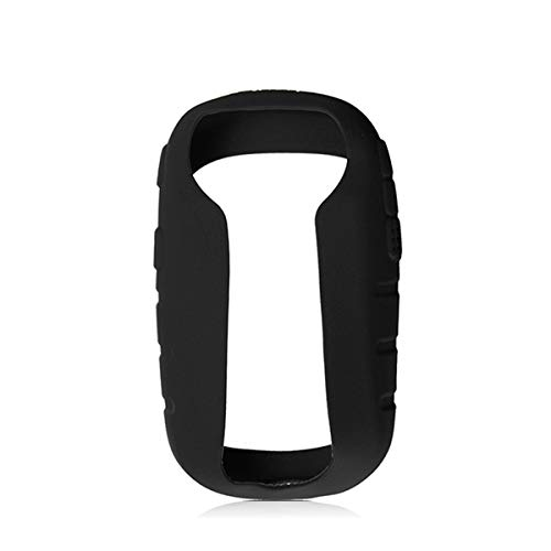 TENGGO Silicona Protección Funda + Protector De Pantalla para Garmin Etrex 10 20 30 10 X 20 X 30 X-Negro