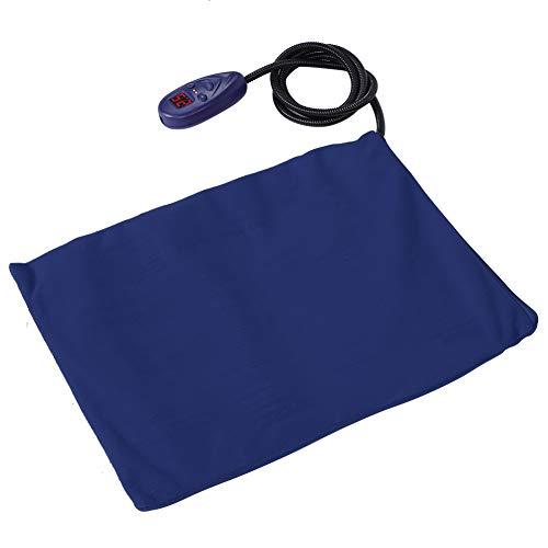 Riuty Heizmatte für Haustiere, Electric Heizkissen, Watt Sicher und wasserdicht Heizdecke Wärmematt für Hunde und Katzen (blau)