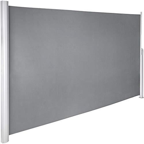 VEVOR Terrassen Windschutz 180 x 300 cm grau Rollo Seitenmarkise ausziehbar für den privaten oder gewerblichen Gebrauch