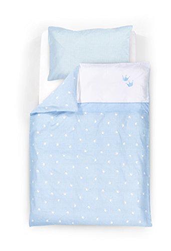 Housse de couette 100x135 + Taie d'oreiller 40x60 cm Couronne bleue