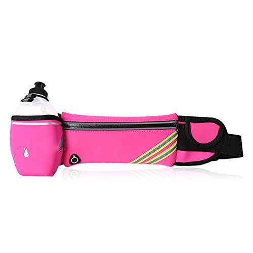 Shawari Riñonera para Correr con Soporte para Botella Soporte para Bolsa de teléfono Impermeable Bolsa de cinturón para Correr Bolsa de Gimnasio para Mujer Bolsa Deportiva para Fitness