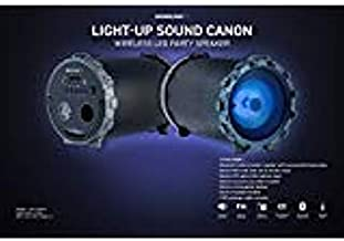 Soundlogic Sound Cannon Light up Led Wireless Bluetooth Professional Quality Speaker Built in Radio Foldable Handles Full Controls Auxiliary Port USB Wire Included Premium Bass and Treble (1 Pack)