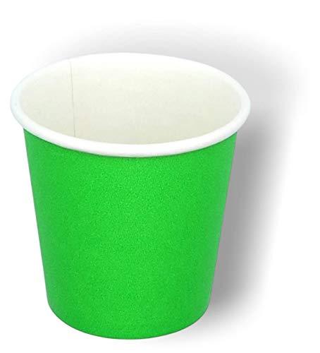 1600/400/50 Bicchierini in Carta 75ml Riciclabili Monouso Biodegradabili Compostabili Premium Quality Acqua caffè Cappuccino Macchiato Freddo Caldo Latte Espresso Macchinetta Corto Tazzine (Verde, 50)