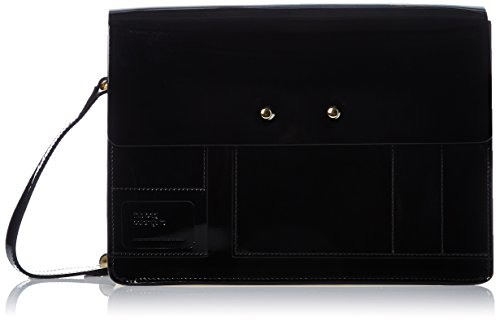 Orla Kiely Women's Agatha Satchel Messenger Bag Black (Black)